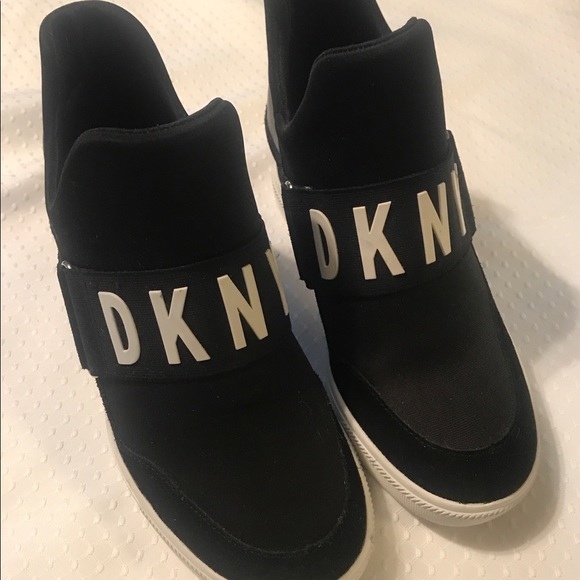 Dkny Shoes | Dkny Wedge Sneakers | Poshmark